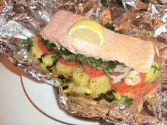 Fischfilet in Alufolie gebacken & Dessert Rezept eingesendet von: Elisa  #Fisch #Filet #Rezept