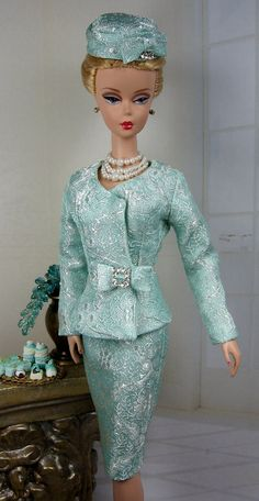 Brocade Acuosa for Silkstone Barbie and by MatisseFashions on Etsy