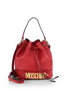 This lassic Moschino bucket bag is a spring must-buy.