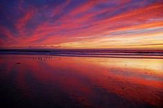 Fiery Sunset at Low Tide in Oceanside - November 1, 2012 by Rich Cruse, via 500px