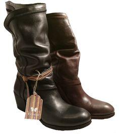 Leather slouch boots with heel, by Felmini by Felmini. Buy it 127,20 €