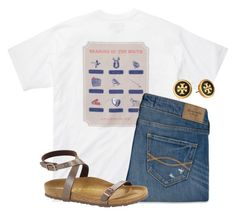 """""""1 more day until the weekend"""" by flroasburn ❤ liked on Polyvore featuring Southern Proper, Abercrombie & Fitch, Birkenstock and Tory Burch"""