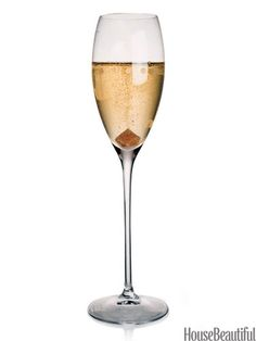 Champagne Cocktail: For a classic Champagne cocktail, place one sugar cube at the bottom of the glass.