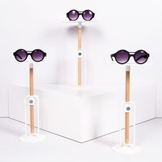 Eyewear display | Bois point of sale collection by Hooks creative retail supplies. #hookscreative #pointofsale #eyeweardisplay #eyewear