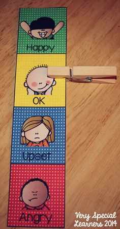 """Calm Down Kit""-individual student emotions strips! Great for behavior management!"