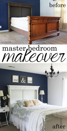 Do you need a master bedroom makeover? Believe it or not, you don't need to spend a lot of money to achieve a gorgeous space. Details within!