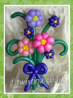 Beautiful Bouquet Of Flowers - Balloon Art By Twistina The Amazing Balloon Lady