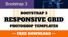 Bootstrap 3 Responsive Grid Photoshop Templates (PSD)