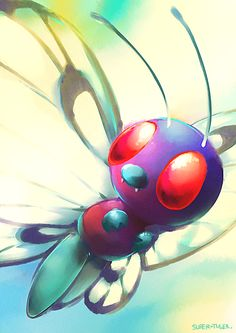 Instant thought to this: This is the Butterfree Ash let go and its taking one last look at its master....FEEEEEEELS!!!!