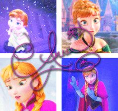 Anna Princess - frozen-princess-elsa-and-anna Fan Art