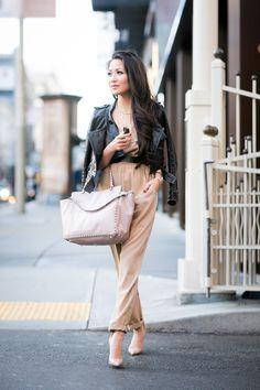 Hello San Francisco :: Silk jumpsuit & Cropped jacket