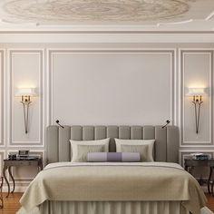 42 Fabulous Modern Bedroom Interior - Modul Home Design Master Bedroom Design, Modern Bedroom, Bedroom Wall, Bedroom Decor, Bed Room, Bedroom Ideas, Wainscoting Bedroom, Contemporary Bedroom, Bedroom Lighting