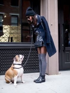 Uptown girl chic | 41 Cute and Stylish Outfit Ideas with Beanie