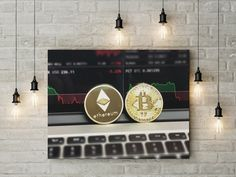 Bitcoin Ethereum canvas wall decor canvas ready to hang on the wall picture beautiful home decor wall art Crypto Blockhain canvas picture by funkytshirtsfactory on Etsy Canvas Wall Decor, Home Decor Wall Art, Canvas Home, Canvas Pictures, Picture Wall, Beautiful Homes, Handmade, Etsy, Wall Hanging Decor
