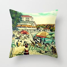 THE PERFECT aloha style pillow –IN STOCK Someday boutique~VINTAGE WAIKIKI . SHOP ALOHA THE SOUL for this fabulous pillow
