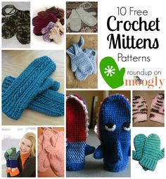 10 Free Crochet Mittens Patterns - in every size! Great for the cold weather!  http://sussle.org/c/Crochet/1387214591.0156