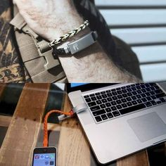 A wearable iPhone charger bracelet ($70). | 21 Things Every Traveler Wishes They Owned