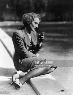 Photo d'actualité : German born American actress Marlene Dietrich...