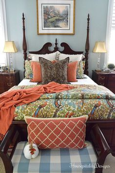AL Master Bedroom Pottery Barn Bedding Housepitality Designs Bring A World Of Color W Master Bedroom Makeover, Master Bedroom Design, Bedroom Designs, Bedroom Makeovers, Bedroom Decor On A Budget, Home Decor Bedroom, Bedroom Ideas, Pottery Barn, Barn Bedrooms
