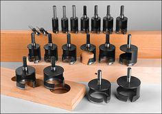 Outils de coupe à pointes de carbure pour tenon, goujon et bouchon - Lee Valley Tools