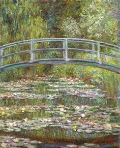Bridge Over Pool of Water Lilies - Monet, 1899