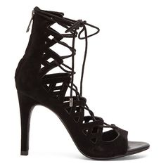 Joie Quinn Heel Shoes ($320) ❤ liked on Polyvore featuring shoes, sandals, heels, cut-out shoes, cutout shoes, lace up sandals, heeled sandals and cut out lace up sandals