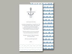 Hochzeitseinladung AHOI von in Liebe auf DaWanda.com