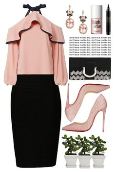 """""""Untitled #211"""" by alienpower ❤ liked on Polyvore featuring Alexis, Christian Louboutin, Salvatore Ferragamo, Effy Jewelry, Benefit and MAC Cosmetics"""