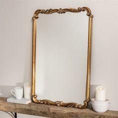 Kasandra Antique Gold Scroll Wall Mirror Vintage Gold Mirror, Gold Framed Mirror, Sunburst Mirror, Gold Mirror Bathroom, Vanity Mirrors, Mirror Bedroom, Diy Mirror, Living Room Mirrors, Living Room Decor