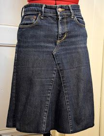 Helles Syskrin: To gamle bukser i ett skjørt Denim Skirt, Sewing Patterns, Jeans, Skirts, Fashion, Stitching Patterns, Moda, Factory Design Pattern, La Mode