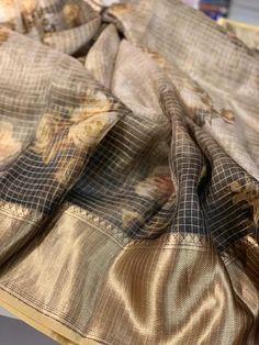 Buy grey color pure silk organza digital print sarees with blouse Organza Saree, Silk Organza, Silk Fabric, Saree Blouse Neck Designs, Trendy Sarees, Printed Sarees, Indian Sarees, Pure Silk, Digital Prints