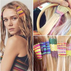 Summer may be winding down, but festival hair is still majorly in style. That's why we're loving hair tapestries, a variation on old-school hair wraps. Diy Hair Up, How To Make Hair, Chic Hairstyles, Bohemian Hairstyles, Hair Upstyles, Hippie Hair, Diy Hair Accessories, Pastel Hair, Crazy Hair