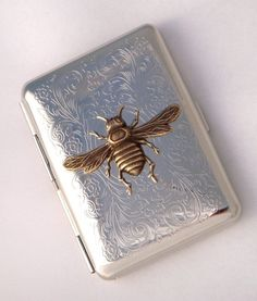 Metal Cigarette Case Vintage  ❤Tobacco & Smoke❤