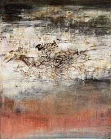 Artwork by Zao Wou-Ki, 14.06.61, Made of Oil on Canvas