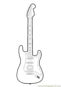 Drawing Of Guitar