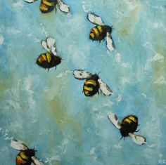 Love this artist on Etsy and definitely want one of her bumble bee paintings!
