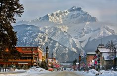 Cascade Mountain is the perfect backdrop for Banff, the picturesque alpine ski town nestle in the Canadian Rockies. Cross it off your bucket list and enter to win a dream vacation. Ski Canada, Canada Travel, Banff Canada, Park City, Lake Tahoe, Places To Travel, Places To See, Best Ski Resorts, Cascade Mountains