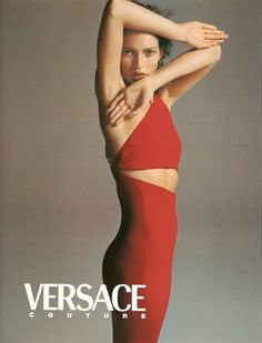 Kate Moss photographed by Richard Avedon  for the Versace F/W 1996/97 advertising campaign.