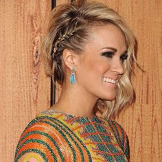 @carrieunderwood's braid game at the American Country Countdown Awards last night  #carrieunderwood #sidebraid #americancountrycountdownawards by cosmopolitan
