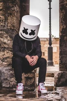 Marshmello!! You don't see him in black that much...