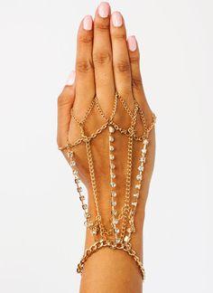 Chain Me Up Jeweled Hand Bracelet