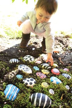 We need a painted rock garden for JMP (or for me.) alisaburke: bugs for lucy - We need a painted rock garden for JMP (or for me.) alisaburke: bugs for lucy - Kids Outdoor Play, Backyard Play, Kids Play Area, Outdoor Playground, Backyard For Kids, Outdoor Learning, Outdoor Fun, Diy Garden Ideas For Kids, Kids Diy