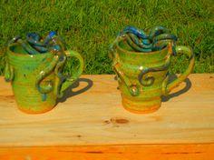 Octopus Mug Stoneware by TeriWhitnerArt on Etsy