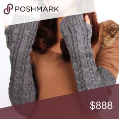 IN STOCK! Gray Cashmere-Wool Arm Warmers, NEW These luxurious arm warmers are long enough to cover your elbows and so pretty in super soft, luxurious merino wool / cashmere blend.  Also available in black. Lalea Accessories Gloves & Mittens