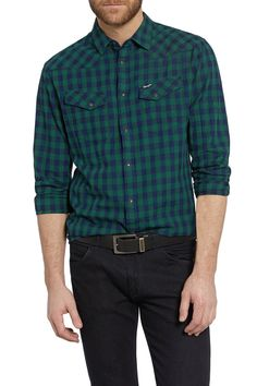 Camicia Wrangler Heritage Western Posy Green