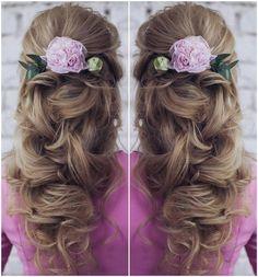 Tonya Pushkareva Long Wedding Hairstyle for Bridal via tonyastylist  / http://www.himisspuff.com/long-wedding-hairstyle-ideas-from-tonya-pushkareva/21/