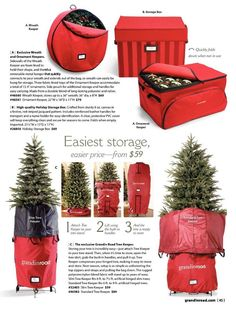 WOW, look at all these colorful storage options.  We particularly like the upright tree storage!