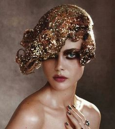 seventeen magazine gold holiday makeup vintage - Google Search