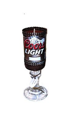 Recycled Coors Light Beer Bottle Candle by 99BottlesofBeerStore, $15.99