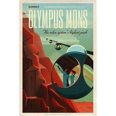 Summit-Olympus-Mons-Mars-Space-Travel-Ad-Sci-Fi-Retro-Art-Vintage-Style-Poster